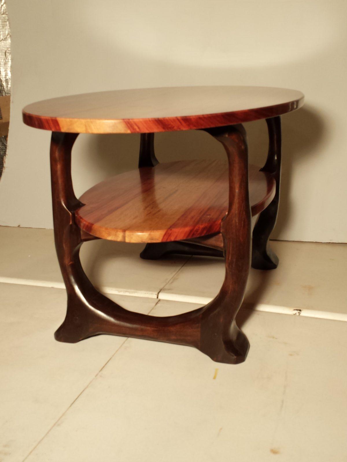 Bubinga and walnut coffee table FineWoodworking