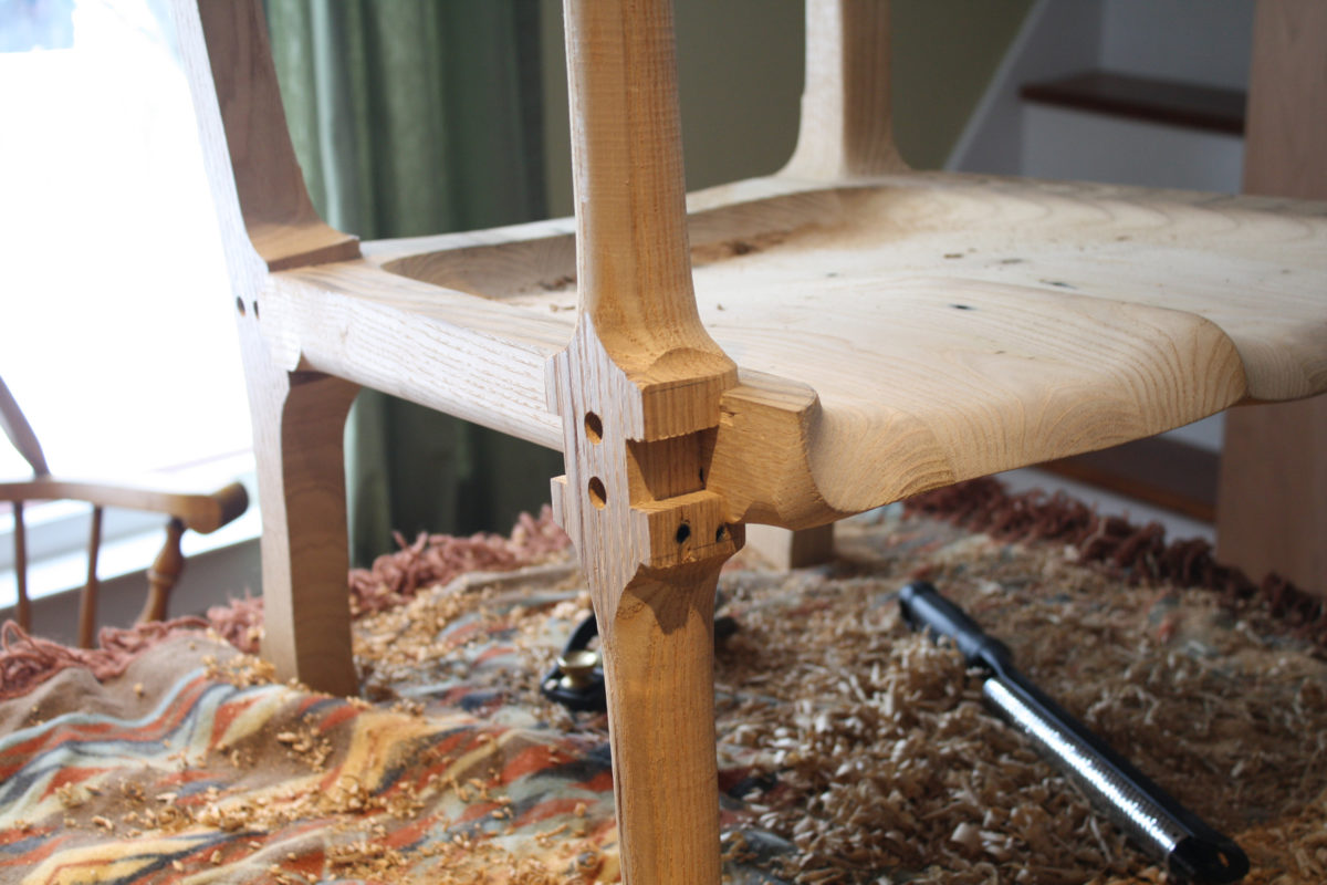 Sculpting At The Kitchen Table. With The Legs Glued And Screwed To The  Seat, It Was Time For A Whole Bunch Of Shaping. With A Hot Cup Of Coffee,  ...