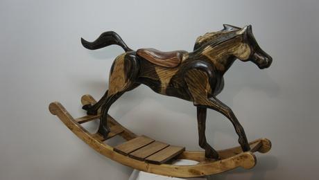 Custom Rocking Horse Full View