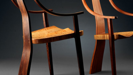 Working in the off-the-grid shop he built forty years ago near Nevada City, California, self-taught woodworker Robert Erickson has earned a national reputation for his chairs.