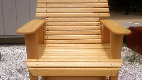 Stained_Cypress_Rocker_Glider_fine_wood