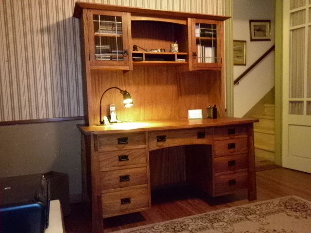 Arts Crafts Desk with Hutch FineWoodworking