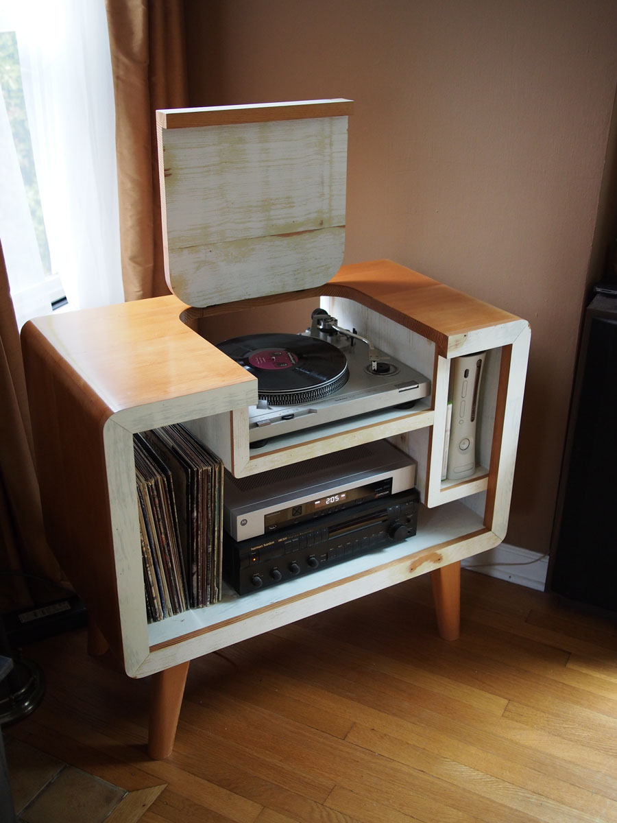 Record Player Xbox Stereo Stand Seattle Wa Finewoodworking