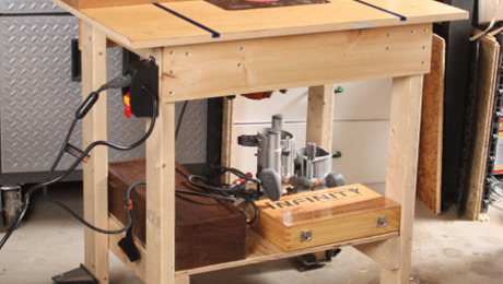 It's big, and it moves. My new router table is 35 in. wide by 23 in. deep by 33 1/2 in. tall.