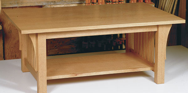 Article Image. Woodworker: Lars Mikkelsen. This White Oak Craftsman Style  Coffee Table ...