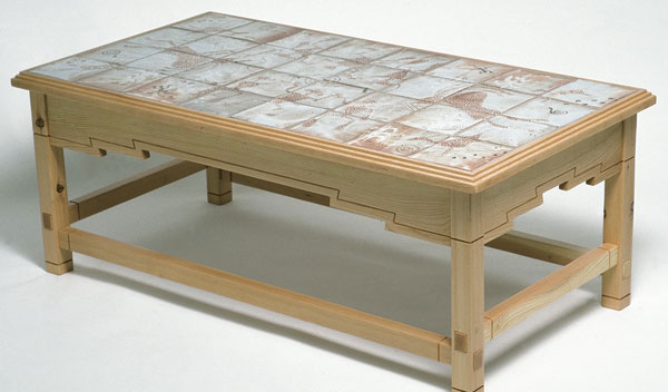 Woodworker: Tom Jordan. This Southwestern-style coffee table ... - Tile-Top Coffee Table - FineWoodworking