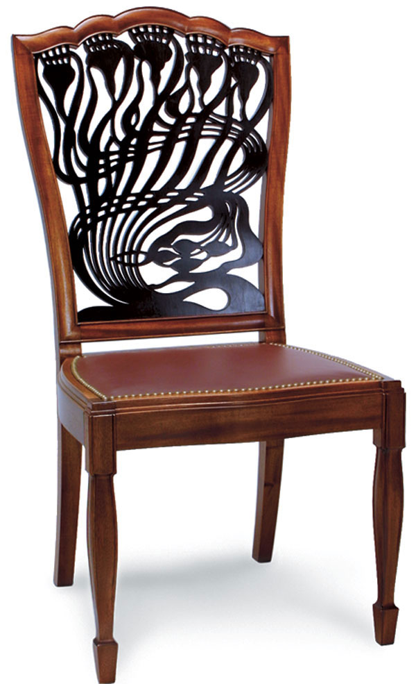 Woodworker  William Doub  Commissioned to reproduce the Art Nouveau   Thistle Chairs  Art Nouveau style Dining Chair   FineWoodworking. Art Nouveau Furniture. Home Design Ideas