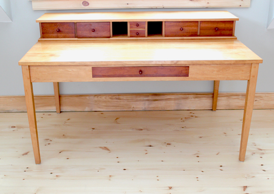 Maple Schoolmaster's Desk with cherry drawers. Ample space to work and ...