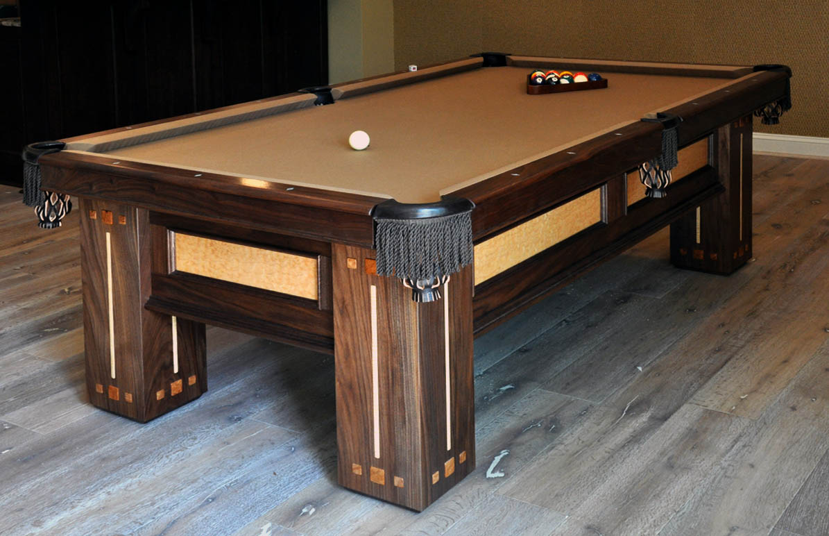 building a custom pool table finewoodworking. Black Bedroom Furniture Sets. Home Design Ideas