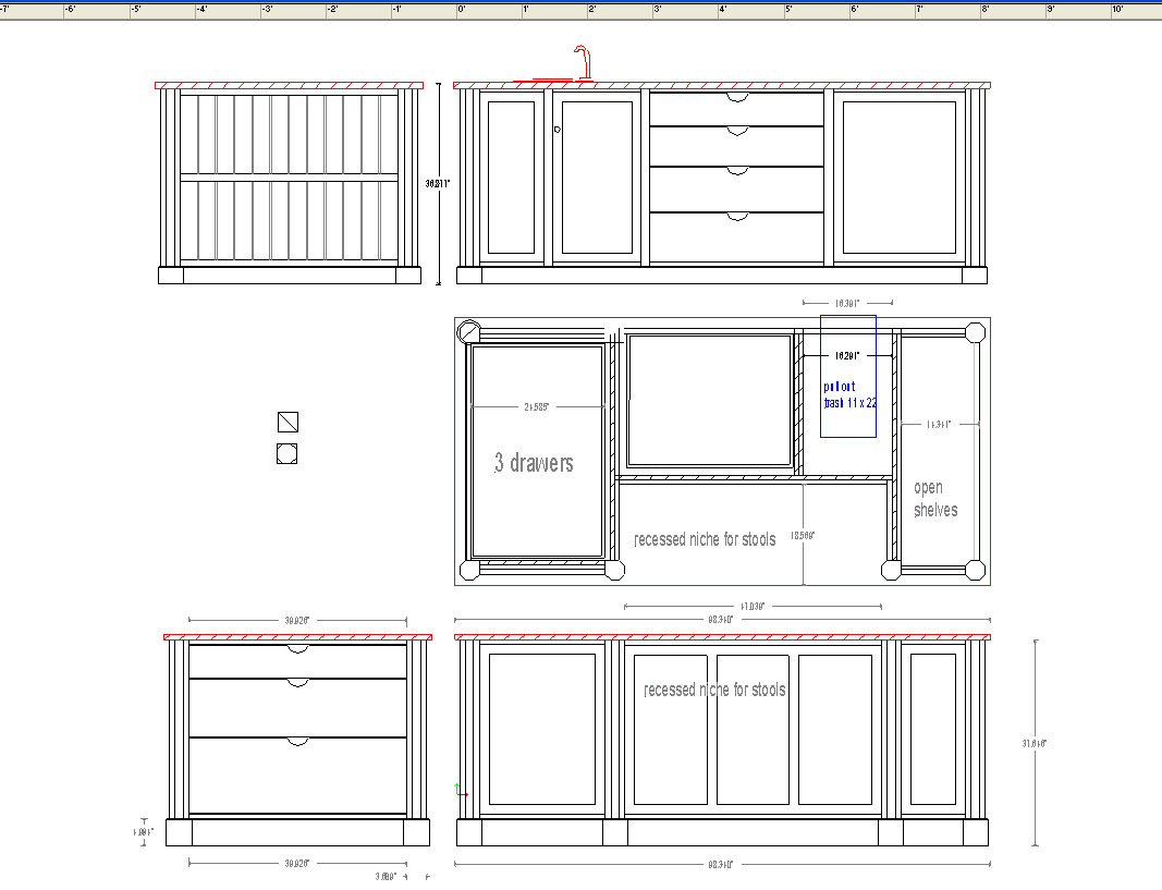 Kitchen Layout Island Kitchen Layout Drawing Tutor