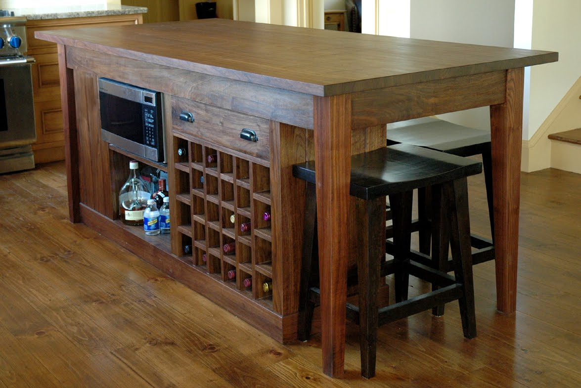 A custom kitchen island finewoodworking for Custom kitchen islands