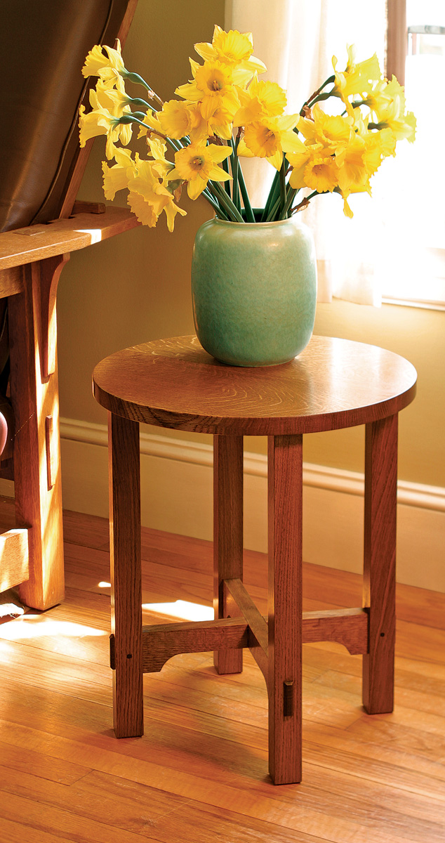 How to build an arts and crafts side table finewoodworking for Arts and craft tables