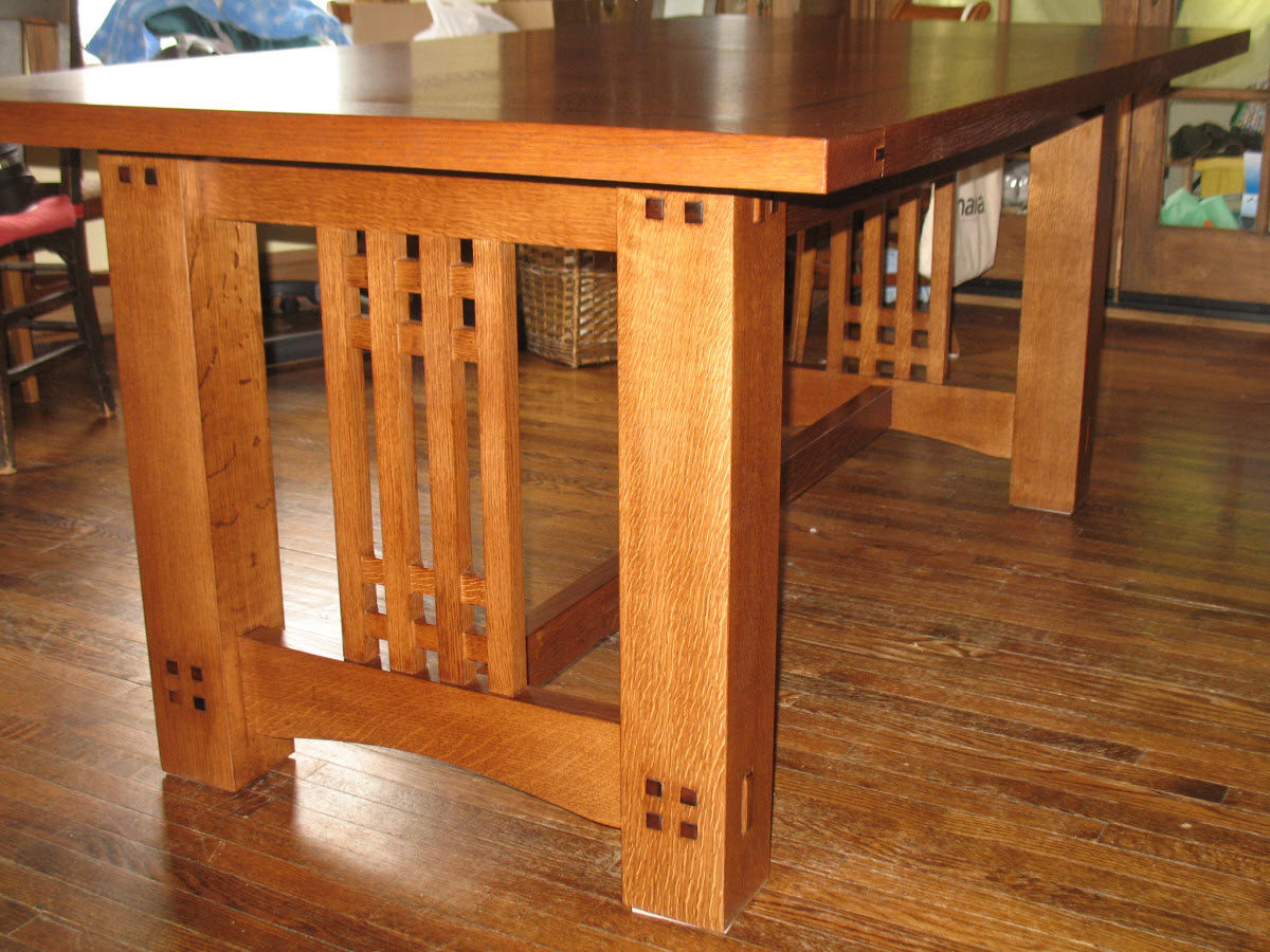 Arts Amp Crafts Inspired Dining Table Finewoodworking