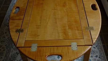 Tiger Maple Butler's Table - FineWoodworking