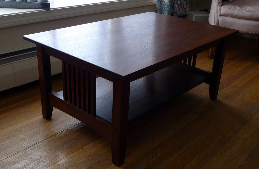 Craftsman Coffee Table Made With Qtr Sawn White Oak Finewoodworking