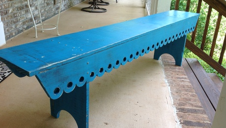 shot of the finished bench