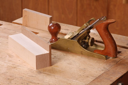 This simple jig is nothing more than a square block with a bit of ...