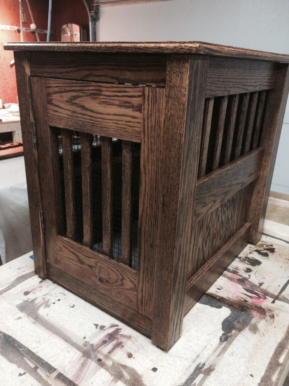 Dog crate end table FineWoodworking