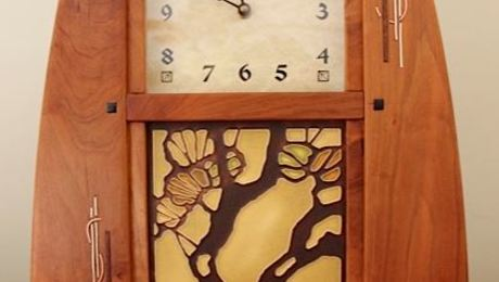 Cherry Mantle Clock With Inlay Amazing Pictures