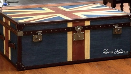 A vintage steamer trunk from LOCUS HABITAT