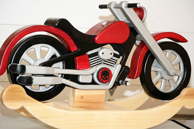 Motorcycle rocker for grandson finewoodworking for Woodworking plan for motorcycle rocker toy