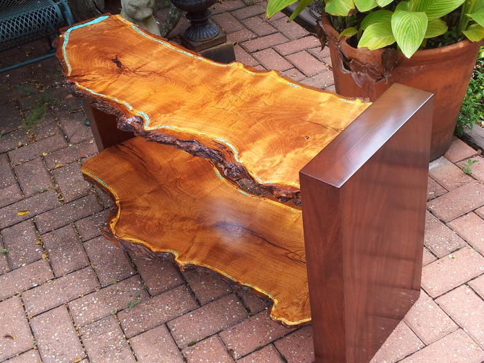 Mesquite And Mahogany Console Finewoodworking
