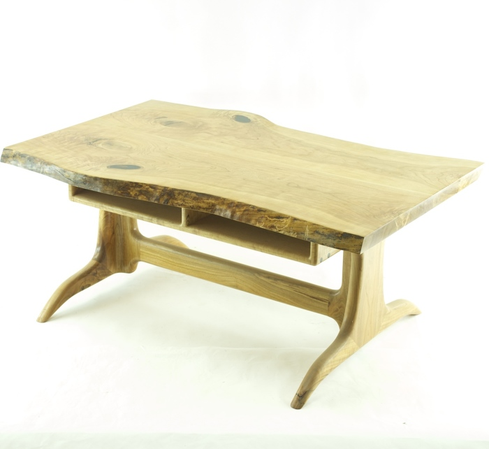 Live edge cherry slab coffee table - FineWoodworking