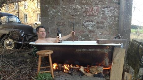A real Scottish hot tub after a hard days work - ayh