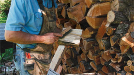Michael Fortune heads to the firewood pile for a bit of furniture inspiration.