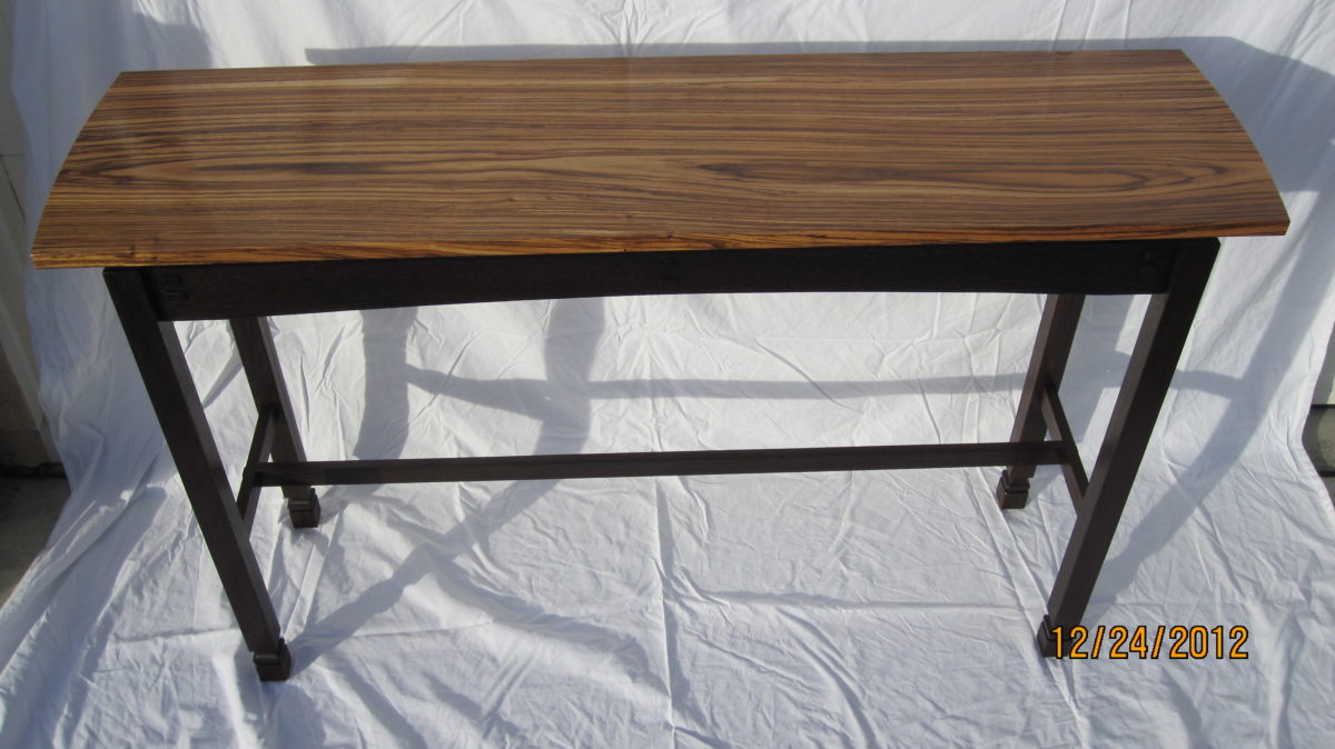 wenge and zebra wood floating top hall table  finewoodworking. wenge and zebra wood floating top hall table