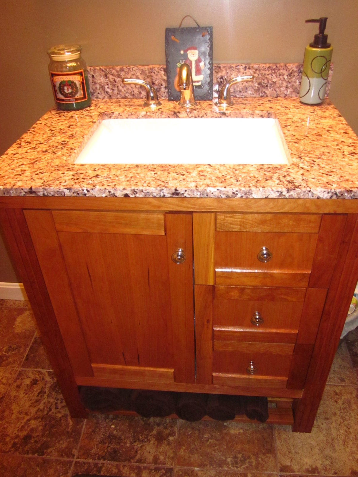 cherry bathroom vanity - Shaker Bathroom 2016