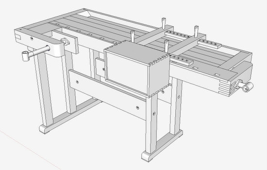 Jig design enabled with sketchup finewoodworking - Fabriquer caisson armoire ...