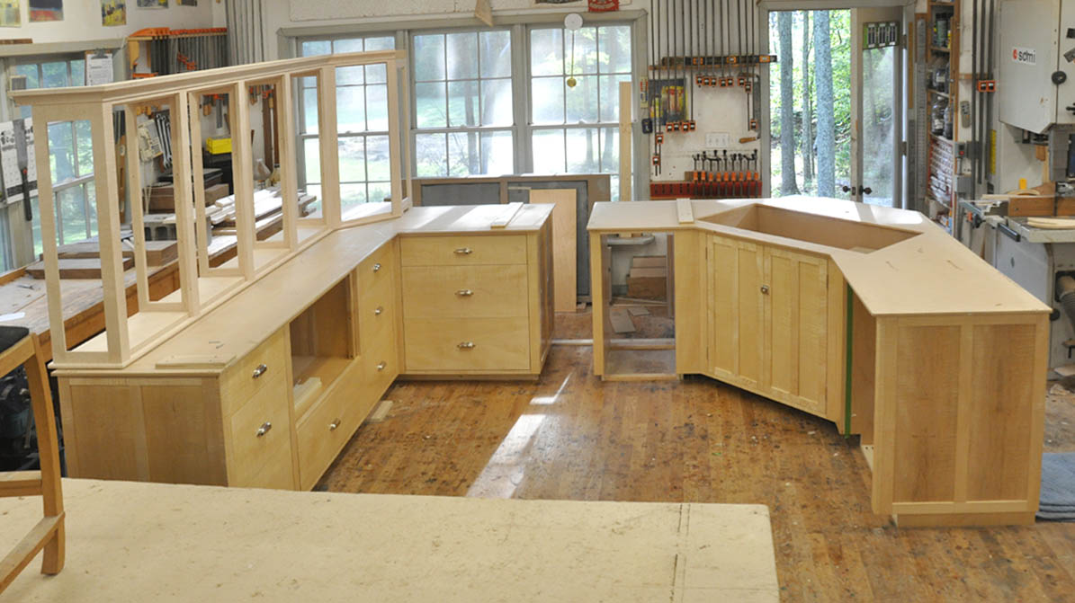 Maple Kitchen A Custom Curly Maple Kitchen Finewoodworking