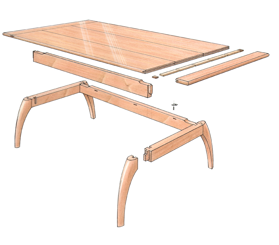 free plan mahogany coffee table finewoodworking. Black Bedroom Furniture Sets. Home Design Ideas