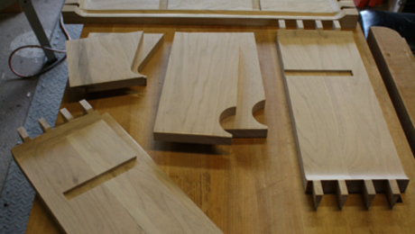 Allt the parts ready for glue-up