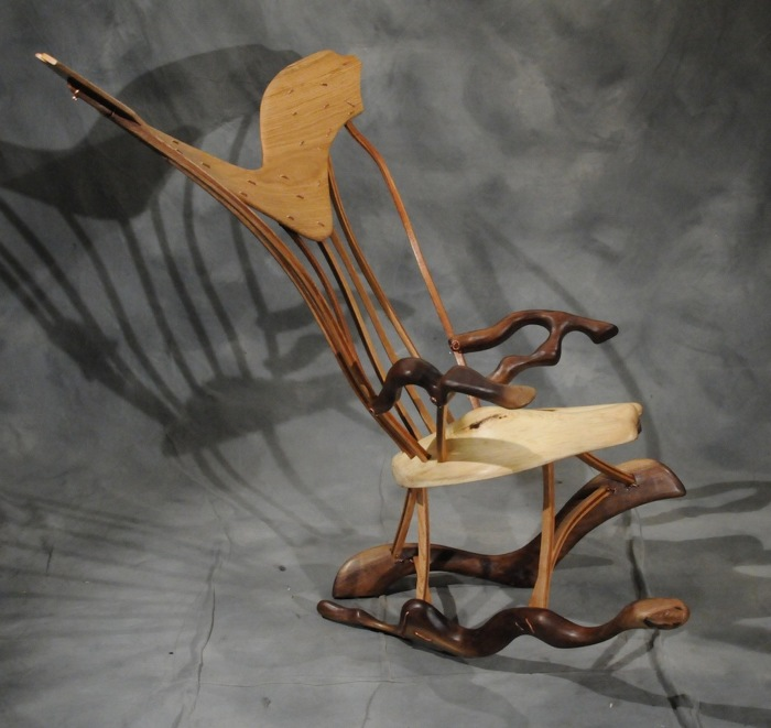 My modification of a Fine Woodworking Windsor Rocking Chair Plan – Windsor Rocking Chairs