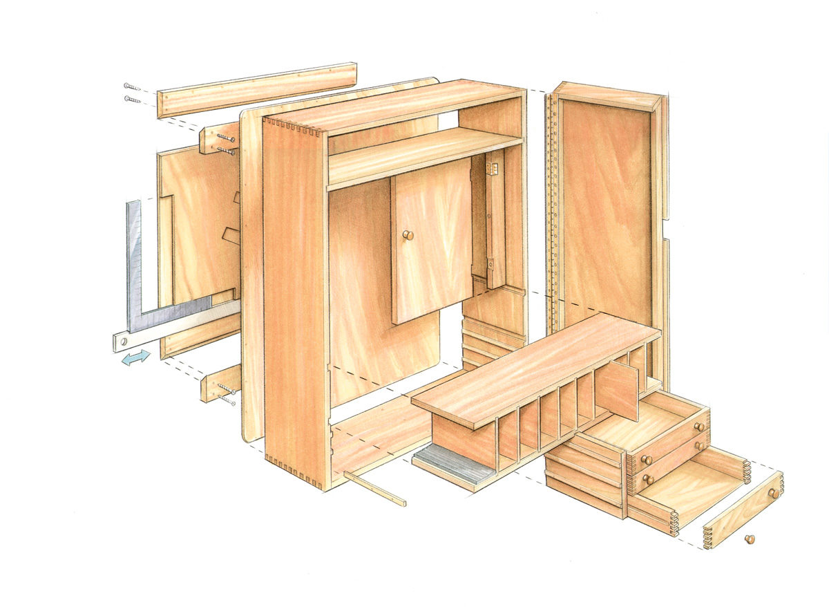 Quick to build tool cabinet finewoodworking Cabinets plans