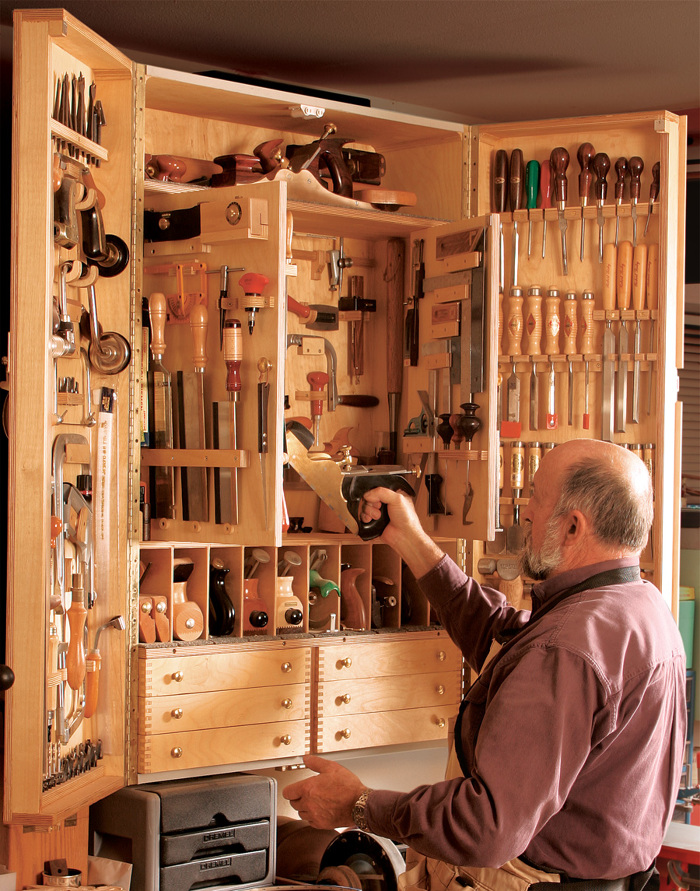 Quick to build tool cabinet finewoodworking for Cabinet design tool