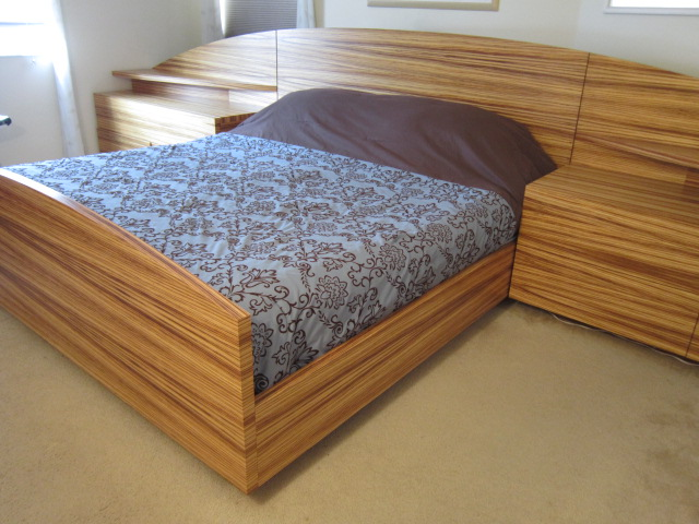 Zebrawood Bed - FineWoodworking