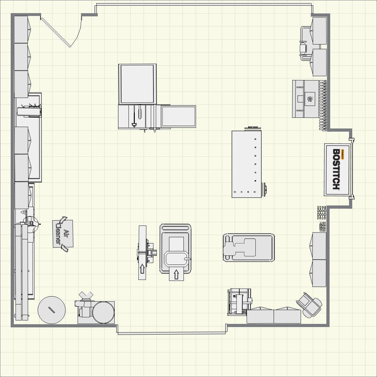 New shop plans for Shop blueprints