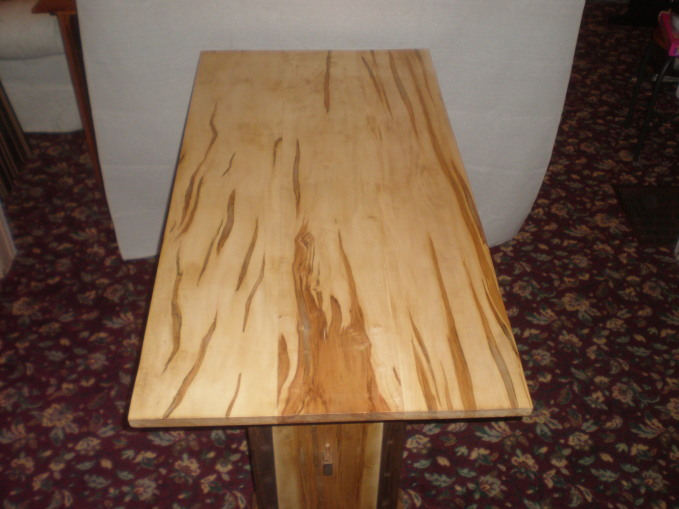 Superb This Table Is My Own Design Of An Ambrosia Maple, Aka Wormy Maple,  U0027knock Downu0027 Table. It Stands 30u2033 Tall X 52u2033 L X 26.25u2033 W X 1u2033