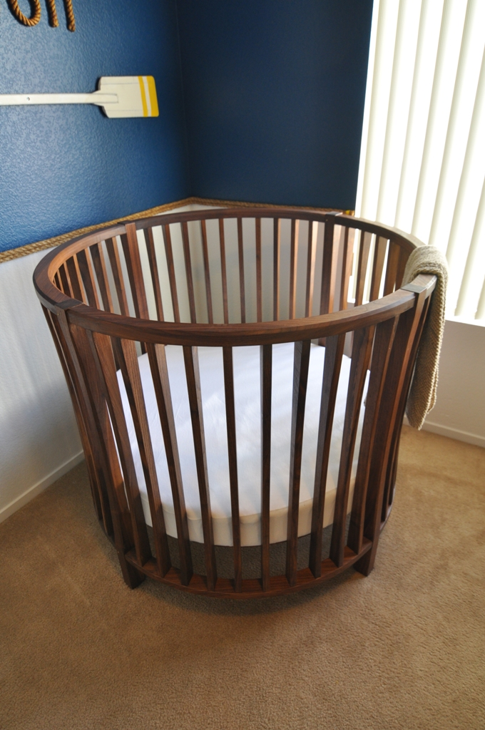 Round Crib View In Gallery Boys Nursery With A Unique