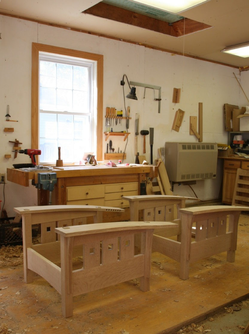 asa s 2 car garage shop finewoodworking it s much easier on the feet and on projects i m assembling and it separates the shop into two distinct areas