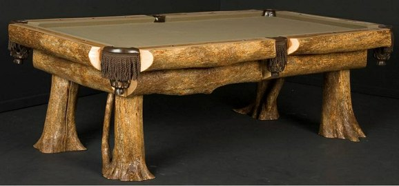 furniture made from trees. rustic log billiard table built from ironwood trees by scott legatt of viking furniture many clients looking for natural wood love that you made