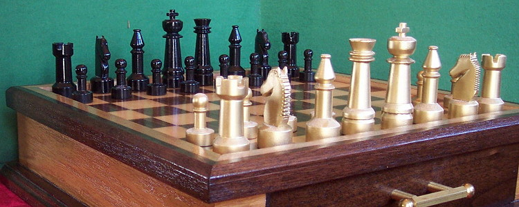 Steel Chess Set steel chess set with board and case - finewoodworking