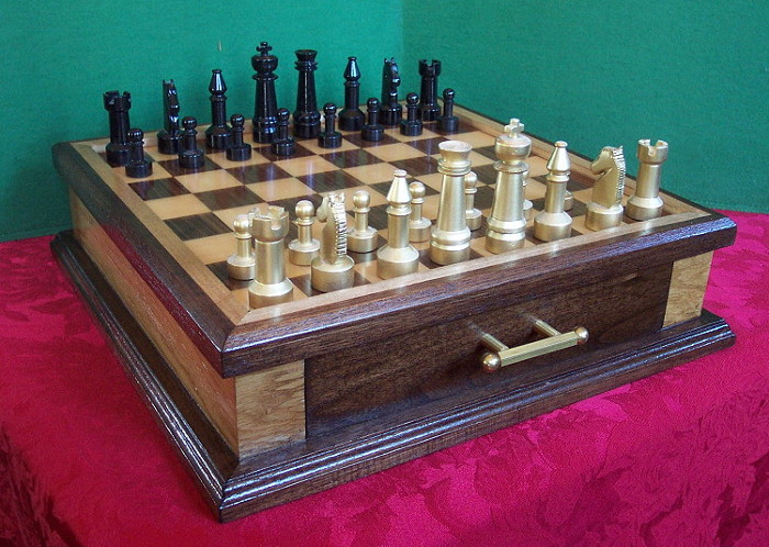 Steel Chess set with Board and Case FineWoodworking