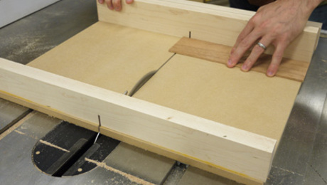 "Learn Matt Kenney's ""second fence"" secret for a perfect crosscut sled."