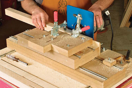 shop built mortising machine