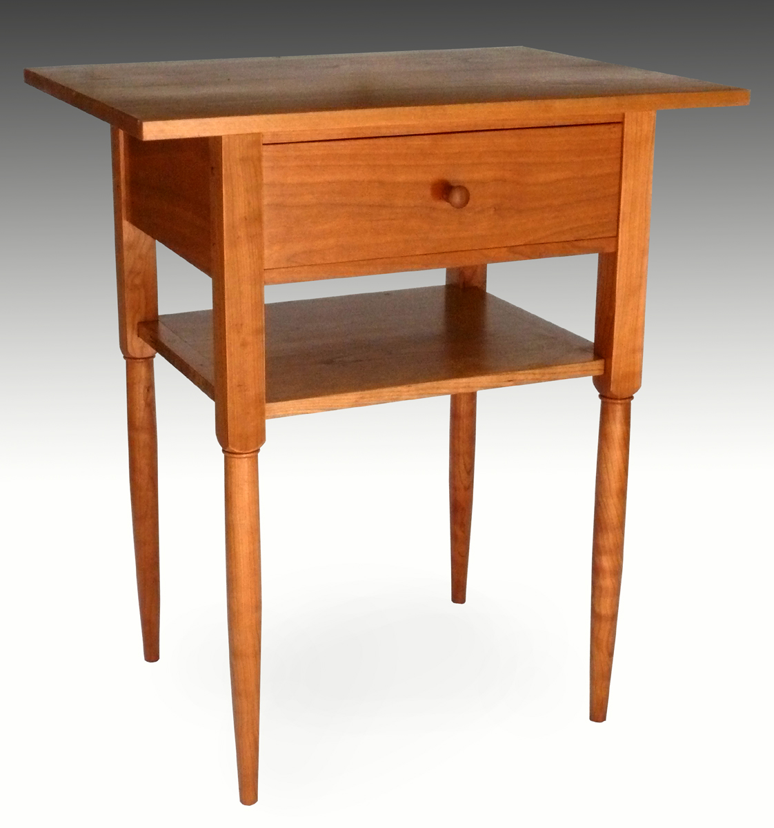 Shaker End Table With Shelf