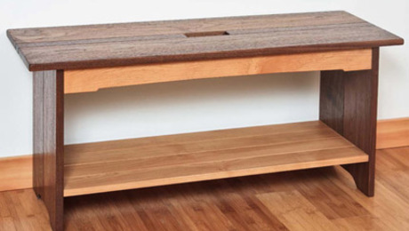 Enter our new gallery contest for a chance to a win a copy of the Pocket Hole Joinery book and learn how to build one of eight projects, including this blanket bench--available as a free download below.